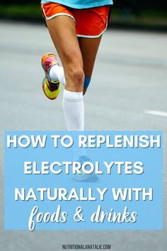 An electrolyte imbalance can seriously affect your hydration and overall athletic performance. Learn how to replenish electrolytes naturally (without a sports drink) this list of 10+ food & drink. Nutrition For Runners, Nutrition Plans, Nutrition Tips, Natural Electrolytes, Runners Food, 21 Day Meal Plan, Running Routine, Sports Drink, Pre And Post