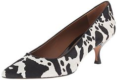 Donald J Pliner Women's Rome-EH Dress Pump, Black/White Cow Print Haircalf, 7 M US ** For more information, visit image link.