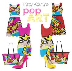 """Katty Kouture - Pop Art Series"" by loretta-goodin-kendall on Polyvore featuring Michael Antonio and Pleaser"