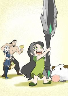 League of Bundle of Joy by ~Dogz777 on deviantART  Lmbo :: Ashe, Tryndamere, Daughter, pet Poro