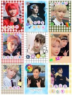 Pop Stickers, Kids Stickers, Printable Stickers, Polaroid Decoration, Kpop Diy, Kpop Posters, Polaroid Pictures, Felix Stray Kids, Kid Memes