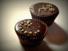 Pearl chocolate cupcake - Chocolate perlado
