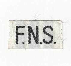 My FNS uniform patch from 1974-75. Sherrie Rice Smith photo.