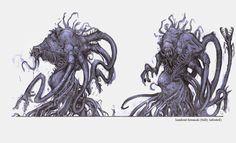 Lambent by James Hawkins on ArtStation. Creature Concept Art, Creature Design, James Hawkins, Gears Of War, Mythological Creatures, Horror Art, Supernatural, Fantasy Art, Beast