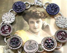 Bijoux anciens de bouton de bracelet Victorian par AlliesAdornments
