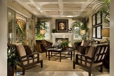 green british tropical colonial living room - Google Search
