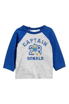 Camiseta de manga larga - Azul/Pato Donald - NIÑOS | H&M ES 1