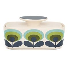 70's Flower Butter Dish by Orla Kiely at Dotmaison