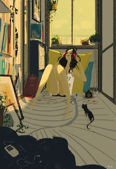 Mix tape memories by Pascal Campion Pascal Campion, Amor Animal, American Artists, Amazing Art, Illustrators, Fantasy Art, Concept Art, Art Photography, Illustration Art