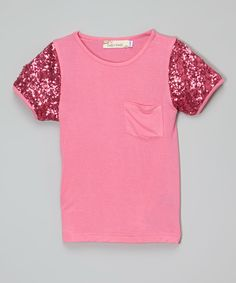 This Fuchsia Sequin Tee - Infant, Toddler & Girls by Lady's World is perfect! #zulilyfinds