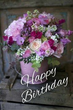 Happy Birthday Flowers Gif, Happy Birthday Bouquet, Happy Birthday Greetings Friends, Happy Birthday Wishes Photos, Happy Birthday Art, Happy Birthday Celebration, Happy Birthday Beautiful, Birthday Blessings, Birthday Wishes Cards