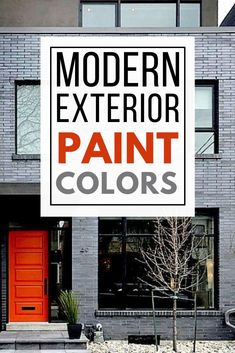 Update your home's exterior with these perfect modern exterior paint color schemes! These modern exterior paint color combinations will inspire you to paint your home with colors that complement each other! Exterior Paint Color Combinations, Modern Color Schemes, Paint Color Schemes, Modern Colors, Best Exterior Paint, House Paint Exterior, Exterior Paint Colors, Modern Exterior, Colorful Interior Design