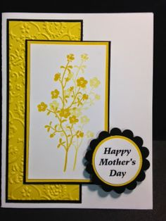 Morning Meadow  Mother's Day Card Stampin' Up! Rubber Stamping Handmade Cards