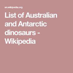 List of Australian and Antarctic dinosaurs - Wikipedia