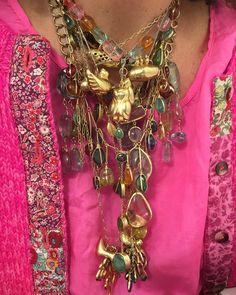 Lessons in layer #PippaSmall #PippaSmallJewellery #JewelleryLayering #Pink #burmaowls #pippasmallburmacollection #Myanmar