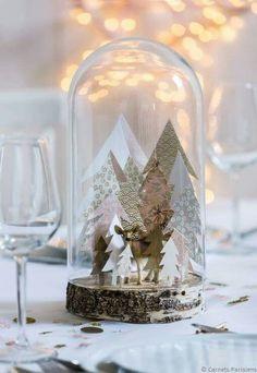 7 Decorazioni di Natale DIY in bianco, grigio e oro - può servirmi da spunto per la natività che intendo realizzare nel vecchio acquario