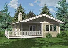 Paxton cabin plan - 912 sq ft