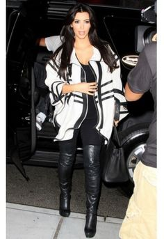 I love the white blazer with an all black outfit