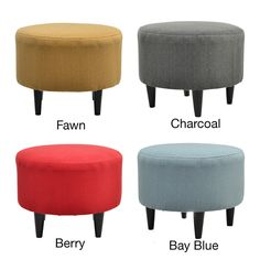 Sophia Candice Round Ottoman | Overstock.com Shopping - Great Deals on Ottomans