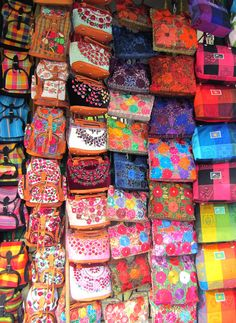 Colorful purses in Mexico