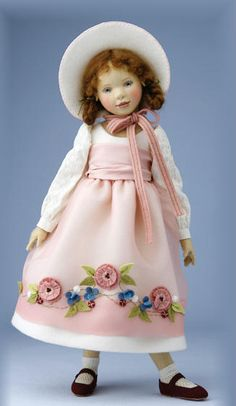 Virginia by Maggie Iacona--ALL FELT DOLL AND CLOTHES