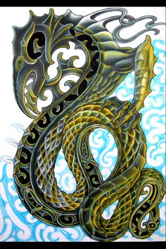 Manaia- Maori myth: a serpent with the head of a bird. It was the messenger between the earthly world of mortals and the domain of spirits.