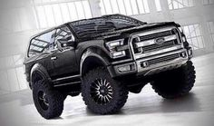 2016 Ford Bronco Concept Black now that is one bad ass truck!!!