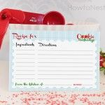 Cookie Swap Recipe Cards | Recipe cards, Free printable and Free ...