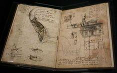 """""""El códice sobre el vuelo de las aves"""" de Leonardo da Vinci. Foto: AP"""