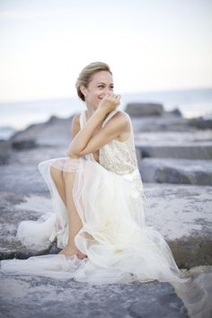 Sweet outdoor bridal portrait | Image by Sarah DiCicco