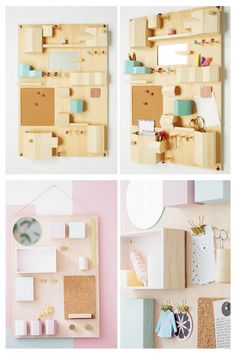 DIY Anthropologie Inspired Hanging Desk Organizer Tutorial from...