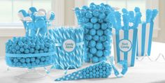 Caribbean Blue Candy Buffet – Sweets Buffet – Party Favors & Candy – Category … - Home Page Frozen Birthday Party, Tiffany Birthday Party, Frozen Party, Frozen Theme, Buffet Party, Candy Buffet Jars, Candy Buffet Supplies, Frozen Candy Table, Blue Candy Table