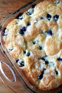 Buttermilk Blueberry Breakfast Cake Recipe