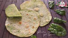 Piadine light di avena agli spinaci, semplici e buonissime, ricche di vitamine, fibre e sali minerali, SENZA STRUTTO, SENZA LATTICINI E LIEVITO!