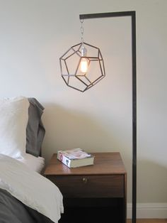 Dodecahedron Lamp TIG-welded by hand by Zai Divecha