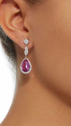Ruby Earrings, Diamond Earrings, Beautiful, Jewelry, Jewellery Making, Jewels, Jewlery, Jewerly, Jewelery