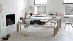 Joli - Largo bench Wood 300cm
