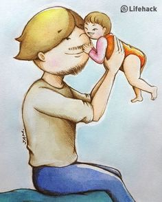 15 heartwarming illustrations that show the love between dad and daughter