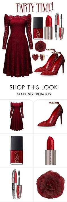"""""""HOLIDAYS SPECIAL:PARTY TIME!"""" by ivanna1920 ❤ liked on Polyvore featuring Valentino, NARS Cosmetics, Urban Decay, L'Oréal Paris, Cara and Betsey Johnson"""