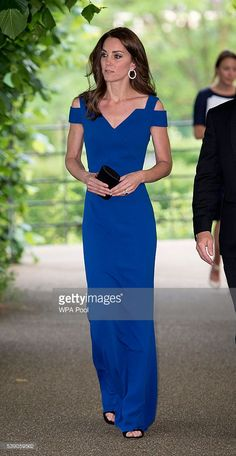 Catherine, Duchess of Cambridge attends SportsAid's 40th anniversary dinner on June 9, 2016 in London, England. On arrival, The Duchess will met SportsAid ambassadors and young athletes who will be competing in the Rio 2016 Olympics at a pre-dinner reception, as well as some of the charity's key supporters.
