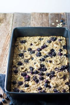 LOVE this blueberry banana baked oatmeal!