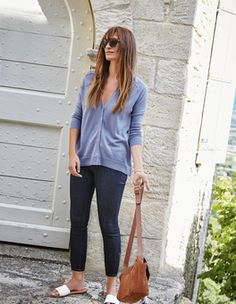 Love cardigans that fit but are slouchy at the same time.