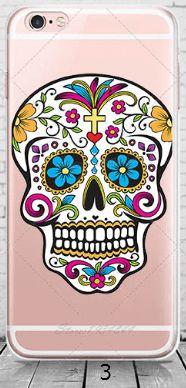 cell phone case, iPhone, skull, sugar skull