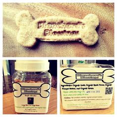 #Treats #organic #local #biscuits #dog #Container #Handmade Free container with your first Blanchard's Blessings order!