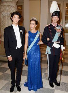 Prince Joachim, Princess Marie and Prince Nikolai at Crown Prince Frederik's 50th birthday gala banquet/ May 26, 2018
