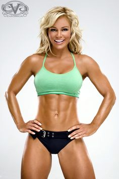 Michele Levesque is a training addict, a fitness model and figure competitor. Her passion for weights and dumbbells developed when she was in rehabilitation for her knees. Her work outs include lifting weights and running. She is also obsessed about nutrition and training