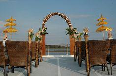 Boat Wedding Decoration#boat #wedding #narrowboat