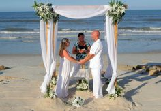 Wedding with canopy in St. Augustine, Florida.