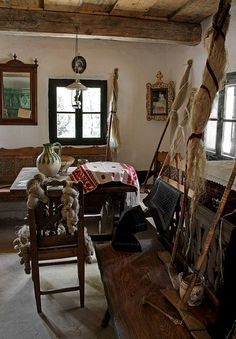 Hungarian folk architecture In A Little While, Beautiful Interiors, Traditional House, Sweet Home, Europe, Interior Design, Architecture, Trotter, Travelogue