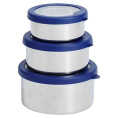 Pack delicious food and reduce waste with these hold-everything nesting boxes. They're crafted of stainless steel with snug plastic lids. Stainless Steel Lunch Containers, Steel Storage Containers, Stainless Steel Bento Box, Food Containers, Food Storage, Easy Storage, Best Lunch Bags, Nesting Boxes, Pottery Barn Teen